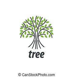 logotipo, vettore, albero