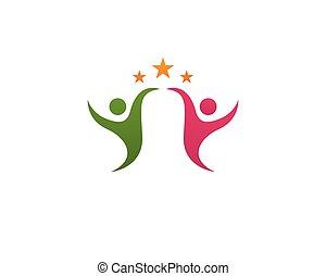 logotipo, vettore, assistenza sanitaria