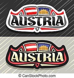 logotipo, vettore, austria