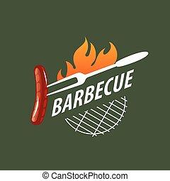 logotipo, vettore, barbecue