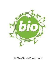 logotipo, vettore, bio