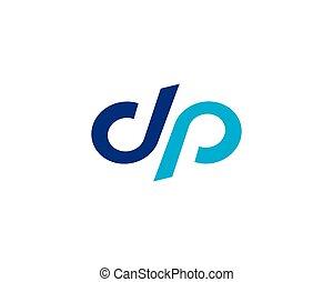 logotipo, vettore, d, lettera