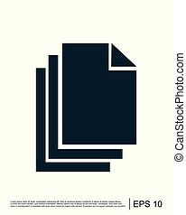 logotipo, vettore, documento, sagoma, icona