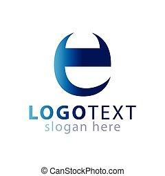 logotipo, vettore, e, lettera, iniziale