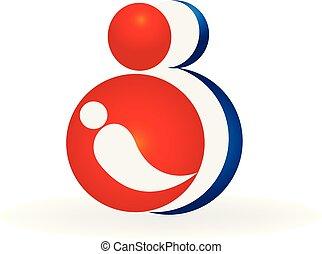 logotipo, vettore, famiglia
