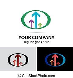logotipo, vettore, freccia, sagoma, icona
