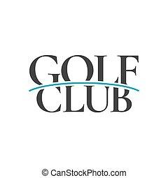 logotipo, vettore, golf, sagoma