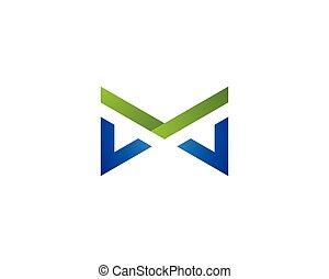 logotipo, vettore, m, lettera