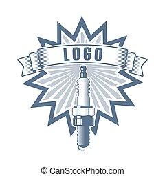logotipo, vettore, motore, servizio
