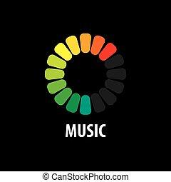 logotipo, vettore, musica