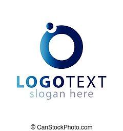 logotipo, vettore, o, lettera, iniziale