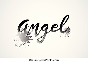 logotipo, vettore, parola, angelo