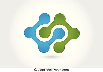 logotipo, vettore, tecnologia, nano