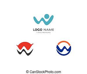 logotipo, vettore, w, lettera