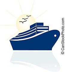 logotipo, viagem, cruzeiro