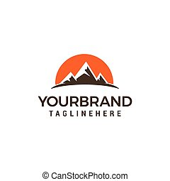 logotipo, viaje turismo, modelo, desenho