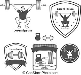 logotipo, weightlifting, crossfit