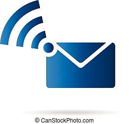 logotipo, wifi, email