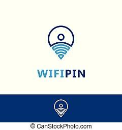 logotipo, wifi, localização, modelo