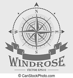 logotipo, windrose, corporativo