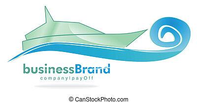 logotipo, yacht