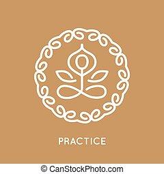 logotipo, yoga, template.