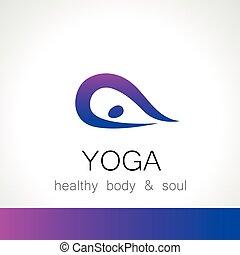 logotipo, yoga