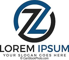 logotipo, z, diseño, template., carta