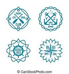 logotipos, blanco, hipster, plano de fondo, variado