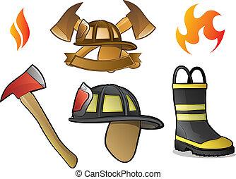 logotipos, bombeiro
