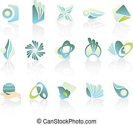 logotipos, compañía, diseño