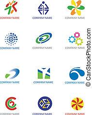 logotipos, companhia