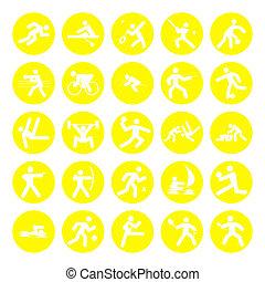 logotipos, de, deportes