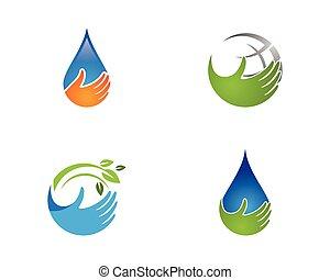 logotipos, ecologia, folha, natureza, árvore, elemento, vetorial, verde, ícone