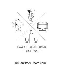 logotipos, emblemas, vinho