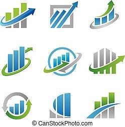 logotipos, estoque, ícones