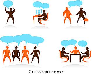 logotipos, pessoas, abstratos, -, cobrança, 5
