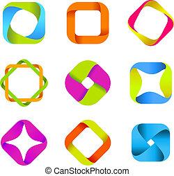 logotipos, quad-loops, colección