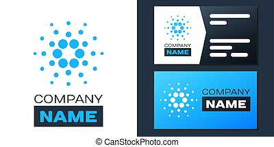 Logotype Cryptocurrency coin Cardano ADA icon isolated on white background. Digital currency. Altcoin symbol. Blockchain based secure crypto currency. Logo design template element. Vector.