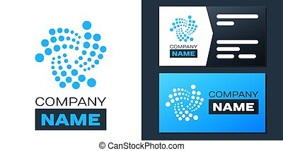 Logotype Cryptocurrency coin IOTA MIOTA icon isolated on white background. Digital currency. Altcoin symbol. Blockchain based secure crypto currency. Logo design template element. Vector.