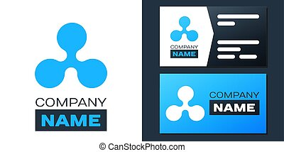 Logotype Cryptocurrency coin Ripple XRP icon isolated on white background. Digital currency. Altcoin symbol. Blockchain based secure crypto currency. Logo design template element. Vector.