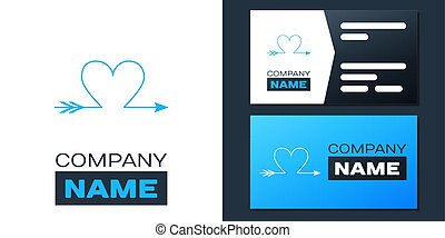 Logotype Cupid arrow heart, Valentines Day cards icon ...