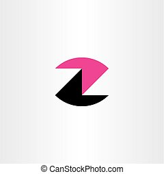 logotype, czarnoskóry, litera, logo, magenta, z, ikona