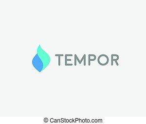 logotype., fluxo, abstratos, gota, aqua, água, vetorial, logotipo, design., ícone