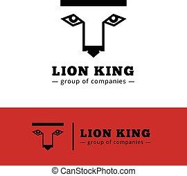 logotype, gesicht, löwe, vektor, minimalistic, logo.