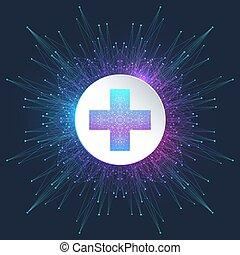 logotype., medico, croce, farmacia, vettore, disegno, sagoma, logotipo, icon., salute, astratto, simbolo.