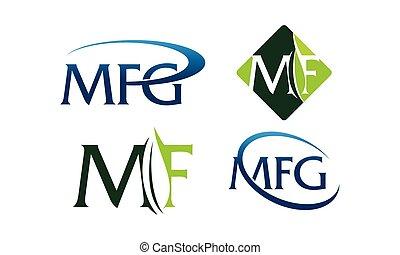 logotype, moderno, plantilla, conjunto