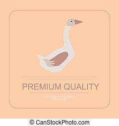 goose in flat design