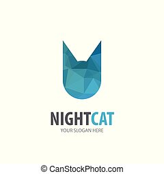 logotype, simple, conception, logo, idée, chat, business, company.
