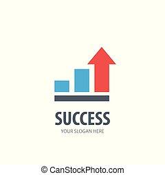 logotype, simple, conception, reussite, logo, idée, business, company.